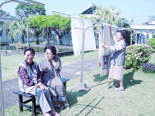 青島荘の中庭